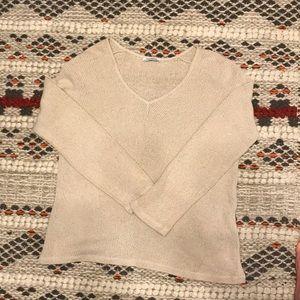 Zara Trafaluc Beige Tan Linen Sweater